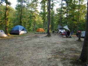 Our campsite at Lago Linda's