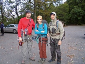 Steve, me, and Huck moments before we set off for The Daddy