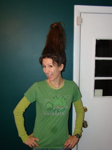 Crazy Hair Day AND St. Patrick's Day all wrapped into one during School Spirit Week