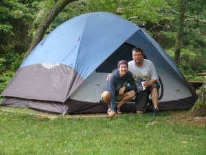 Father/Daughter biking and camping trip to Galax, VA in July