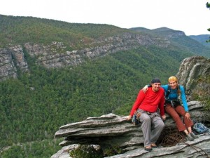 We made it down to the Linville Gorge one last time before I got too preggo to hike into the gorge in early October