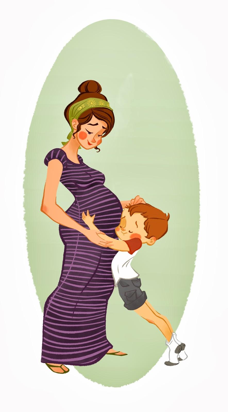 мама беременная рисунки детские
